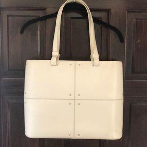 """Tod's vintage """"8 bag"""" in eggshell white"""